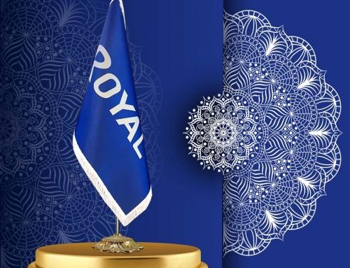 پرچم تشریفات لمینت با ریشه